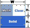 Mesh/Clear-Solid Curtain